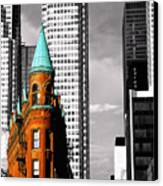 Flat Iron Building Toronto Canvas Print by John  Bartosik