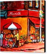 Fleuriste Bernard Florist Montreal Canvas Print