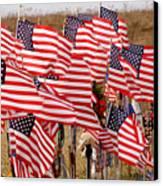 Flight 93 Flags Canvas Print