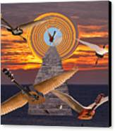 Flight Of The Guitars Canvas Print by Eric Kempson