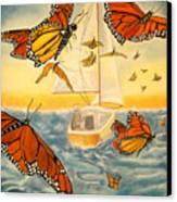 Flight Of The Monarchs Canvas Print