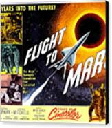 Flight To Mars, 1951 Canvas Print by Everett