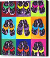 Flip Flops After Andy Warhol Canvas Print