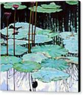 Floating - Reflective Beauty Canvas Print
