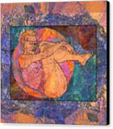 Floating Woman Canvas Print