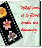 Floral Filmstrip Canvas Print by Bill Barber