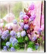 Floral Merge 11 Canvas Print by Artzmakerz