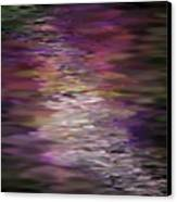 Floral Reflections Canvas Print by Sandra Bauser Digital Art