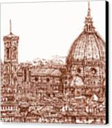 Florence Duomo In Red Canvas Print