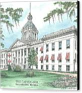 Florida Capitol 1902 Canvas Print by Audrey Peaty