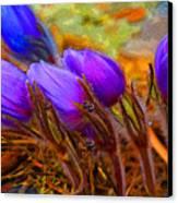 Flourescent Flowers Canvas Print