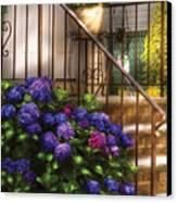Flower - Hydrangea - Hydrangea And Geraniums  Canvas Print