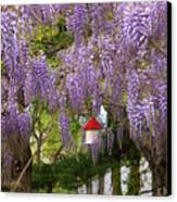 Flower - Wisteria - A House Of My Own Canvas Print by Mike Savad