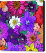 Flower Pond Vertical Canvas Print