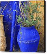Flower Pots In Crete Canvas Print