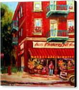 Flower Shop On The Corner Canvas Print