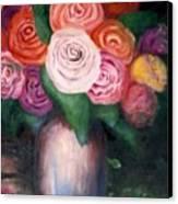 Flower Spirals Canvas Print