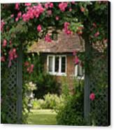 Flower Trellis England Canvas Print