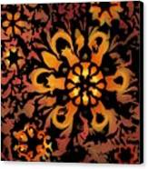 Flower Woodcut Canvas Print