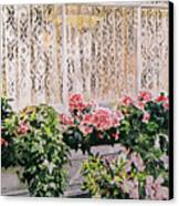 Flowers And Lace Canvas Print by David Lloyd Glover
