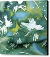 Flowers Floating On The Water Canvas Print by Joanna White