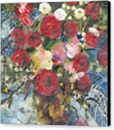 Flowers In A Basket Canvas Print