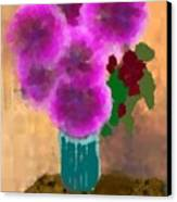 Flowers In Room Canvas Print