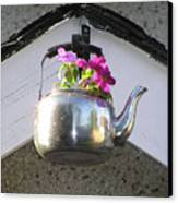 Flowers In Teapot Canvas Print by Richard Mitchell