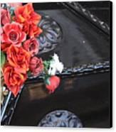 Flowers On Gondola In Venice Canvas Print
