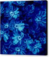 Flowers On Tiles Canvas Print