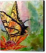 Flutterby - Watercolor Canvas Print