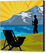 Fly Fishing Canvas Print by Aloysius Patrimonio
