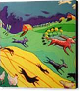 Flying Dog Farm Canvas Print