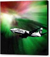 Flying Through Aurora  Canvas Print