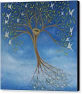 Flying Tree Canvas Print by Tone Aanderaa