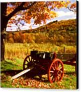 Foliage And Old Wagon Canvas Print