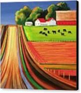 Folk Art Farm Canvas Print by Toni Grote