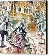 Folk-dancing Canvas Print