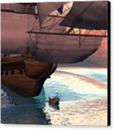 Following The Navigator Canvas Print by Claude McCoy