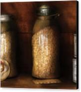 Food - Corn Yams And Oatmeal Canvas Print by Mike Savad