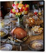 Food - Easter Dinner Canvas Print by Mike Savad