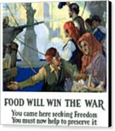 Food Will Win The War Canvas Print by War Is Hell Store