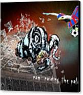 Football Derby Rams Against Crystal Palace Eagles Canvas Print