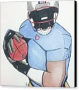 Football Player Canvas Print by Loretta Nash