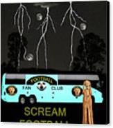 Football Tour Scream Canvas Print by Eric Kempson