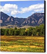 Foothills Of Colorado Canvas Print
