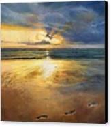 Footprints Canvas Print by Helen Parsley