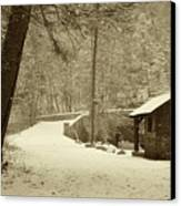 Forbidden Drive In Winter Canvas Print by Bill Cannon