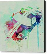 Ford Gt Top Watercolor  Canvas Print by Naxart Studio
