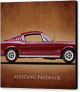 Ford Mustang Fastback 1965 Canvas Print